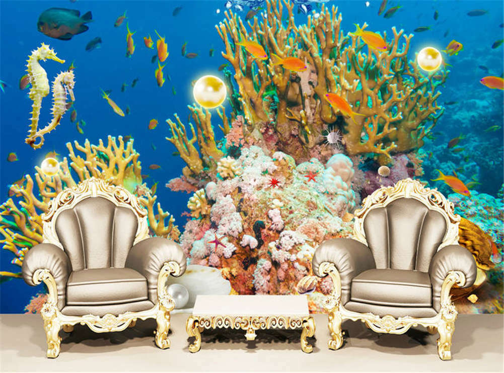 Accurate Nice Fish 3D Full Wall Mural Photo Wallpaper Printing Home Kids Decor