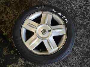 RENAULT-CLIO-MK2-2001-2006-Campus-alium-Roue-alliage-Pneu-185-55-15-Pneu-7-mm