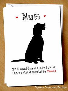Image Is Loading Greeting Card Mum Birthday Mothers Day Dog Pet
