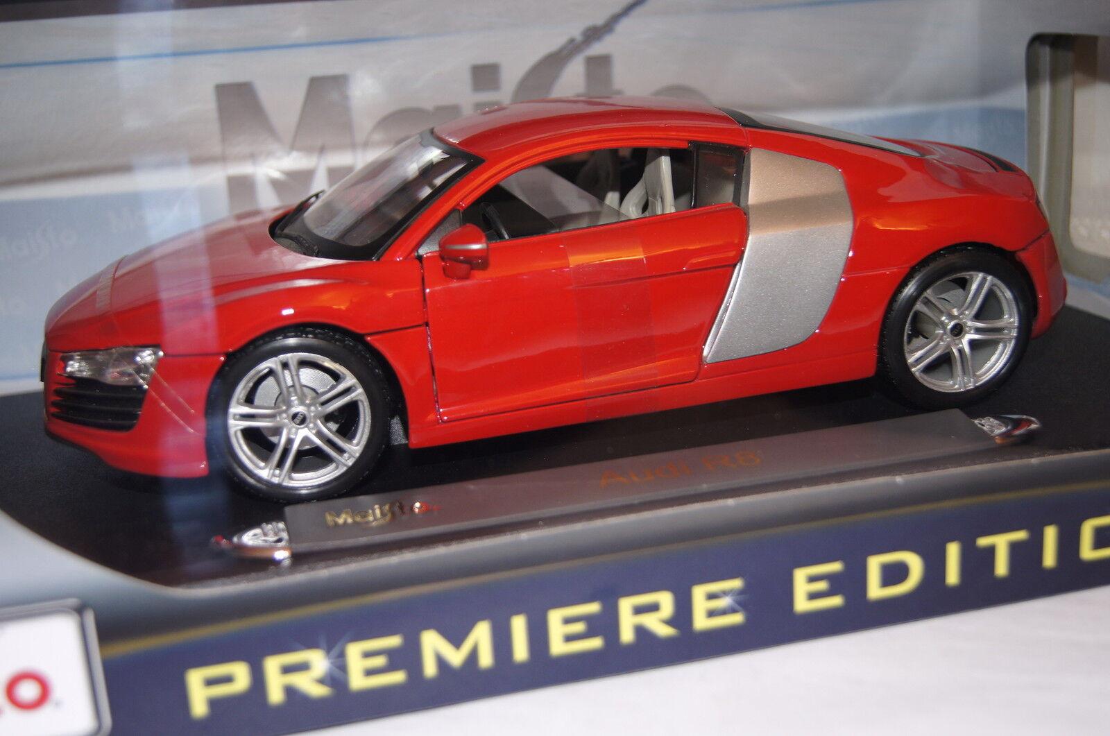Sin impuestos Audi r8 rojo rojo rojo 1 18 maisto nuevo & OVP 31143  promociones de descuento