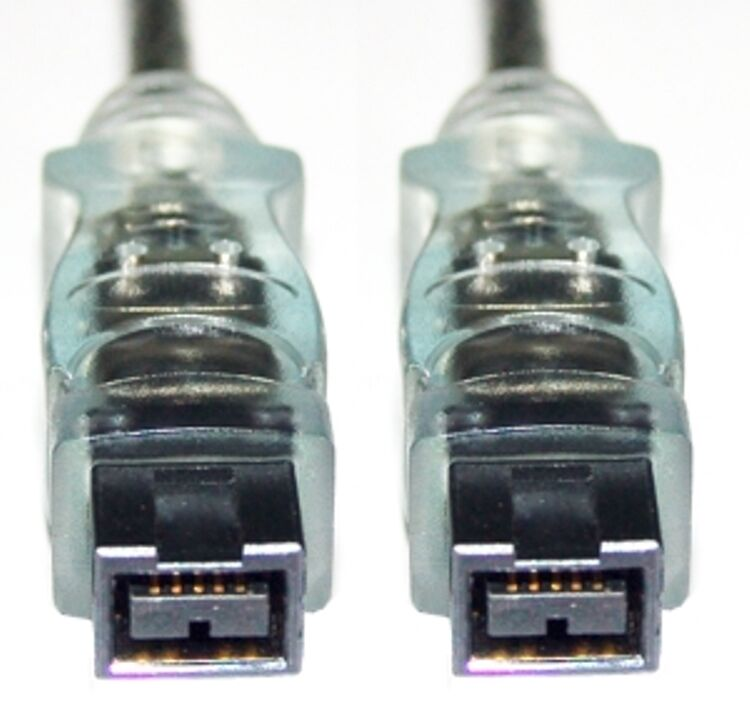 FireWire 9-9 Cable / Lead, IEEE-1394b , 9-pin Male to 9-pin Male (Plug-Plug), 2M