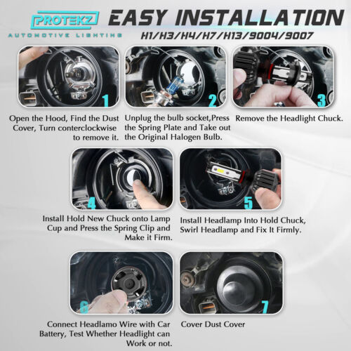 LED Headlight Kit H8 H11 White 6000K Fog Light CREE Bulb for VW BETTLE 2006-2016