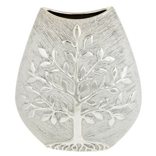 Champagne Tree of Life Large Wide Vase
