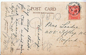 Genealogy-Postcard-Family-History-Loadie-Iffley-Road-Oxford-A1146