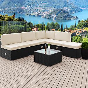 Poly Rattan Lounge Set Gartenmobel Sitzgruppe Sofa Lounge Mobel
