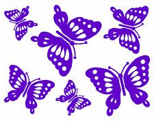 6 BUTTERFLIES window,wall,baby & kids room,home decor sticker decals.26 colours!