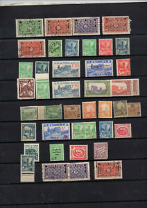 Timbres-colonies-88-timbres-Tunisie-neufs-et-obliteres-avant-independance