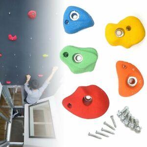 10 15 20 25x Climbing Wall Stones Holds Hand Feet Starter Grip Rock Holder Screw