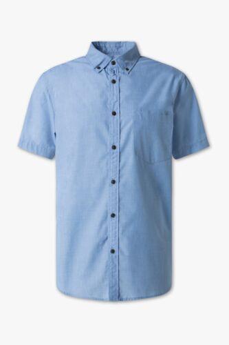 47//48-3XL OVP Angelo Litrico Herrenhemd Kurzarm blau Gr NEU