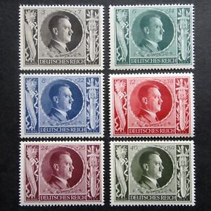 Germany Nazi 1943 Stamps MNH Adolf Hitler Hitler's 54th birthday Swastika WWII T