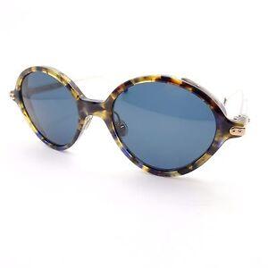 40e089f2162 Christian Dior insatisfação 0X4KU Havana Ouro Azul Cinza Óculos de ...