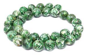 Perles-de-coquillages-Composition-avec-Nacre-vert-12-mm-Boules-Corde-MUXX-6