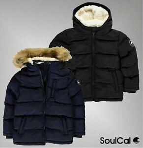 Garcons-de-marque-Soulcal-Casual-Fleece-Tricot-poignets-2-Zip-BUBBLE-Veste-Taille-7-13-Ans