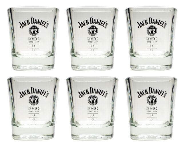 6 Stück Jack Daniels Tumbler 2cl/4cl - Set Gläser Glas Becher Whiskey