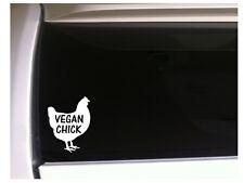 "Vegan Chick farmer sticker vinyl car decal 6"" *P08 farm chicken pet Eggs"