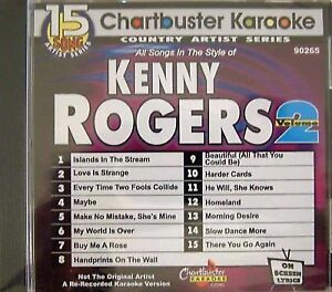 Chartbuster Karaoke Country Artist Kenny Rogers Vol 2 CD G 15 Songs 90265