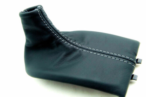 For 97-04 Porsche Boxster 911 986 996 Leather Manual Shift Boot Gray Stitch