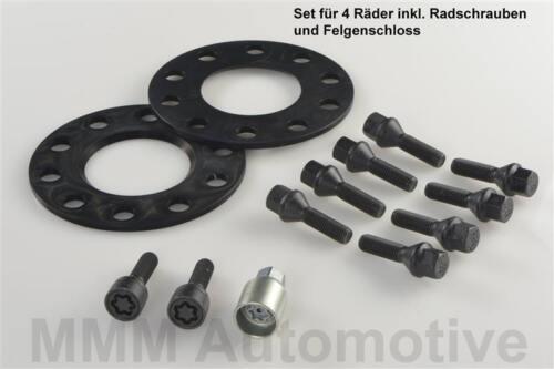 tipo 5//h H /& R ABE PASSARUOTA NERO 10//20 mm Set BMW 5er e34 DISCHI traccia