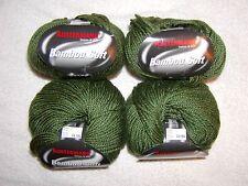4 SKEINS - AUSTERMANN - Bambou Soft ~ 65% merino wool~35% Bamboo - #22 - PINE