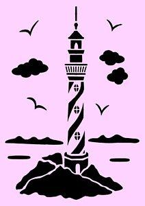 schablone leuchtturm a4 f r stoffe m bel usw nr. Black Bedroom Furniture Sets. Home Design Ideas