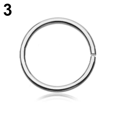 Surgical Steel Thin Small Nose Ring Hoop 0.8mm Cartilage Piercing Studs Sanwood