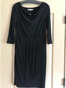 Black Xl pieghettato 4 con Claudia pannello Dress Richard frontale 3 Sleeve fnqw4xw