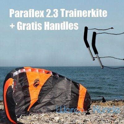 | PARAFLEX 2.3 TRAINER KITE | Lenkdrachen Lenkmatte Wolkenstürmer Gratis Handles