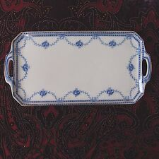 Vintage Tams Ware 'Roseage' Blue & White Dressing Table or Sandwich Tray / Plate