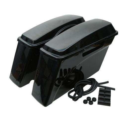 Black Hard Saddlebags Bag Trunk /& Lid For Harley Davidson Softail Sportster Dyna