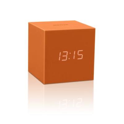 Tisch-, Kamin- & Reiseuhren Qualifiziert Cube Click Clock Standuhr Orange 7,5 X 7,5 X 7,5 Cm Neu Von Gingko Gravity Tropf-Trocken