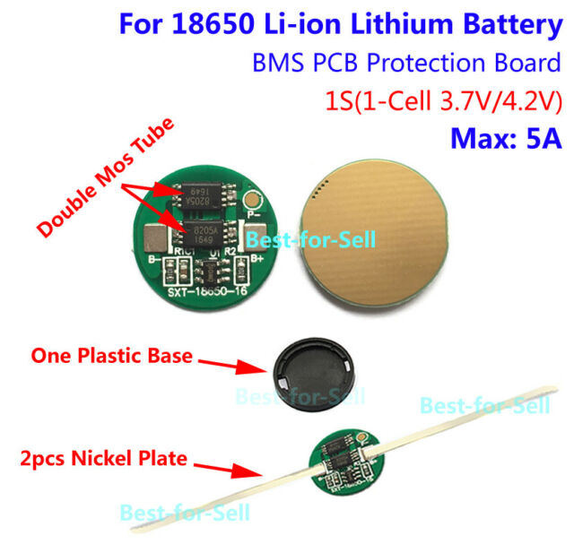1 Cell 5A Li-ion Lithium 18650 Battery PCB Charger Protection Board 3.7V 4.2V 1S