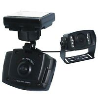 Dc-dd3 Mini Dual Car Dash Camera Gps W/ Rear External Cam View G-shock Sensor