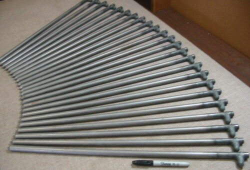 """24 pack of 24/"""" long metal tent stakes,anchors,ground anchors USA   62524HNP24"""