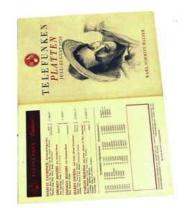 Periodika & Kataloge k118 Telefunken Plattenjuli/august 1950 Schellack