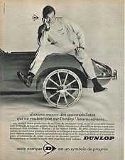 PUBLICITE   1967   DUNLOP   pneus  automobile poids lour tracteur