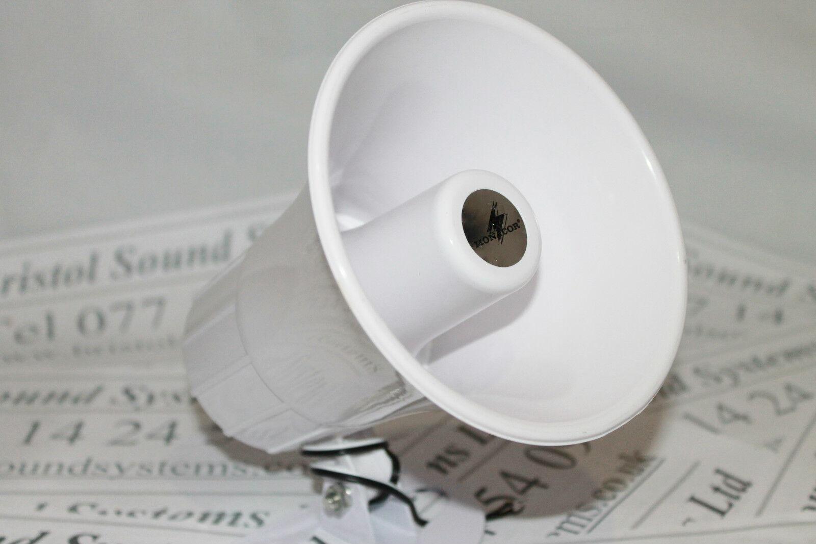 Monacor NR-22KS horn speaker 8 ohm 15w White