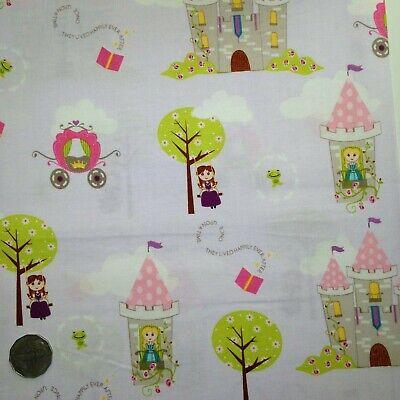 Fat Quarter Dream and A Wish Purple Princess Cotton Quilting Fabric Riley Blake