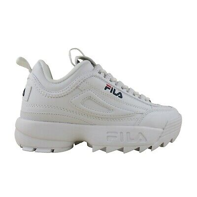 Fila Kids Grade School GS Disruptor II 2 Casual Chunky Sole Shoes White Navy Red | eBay
