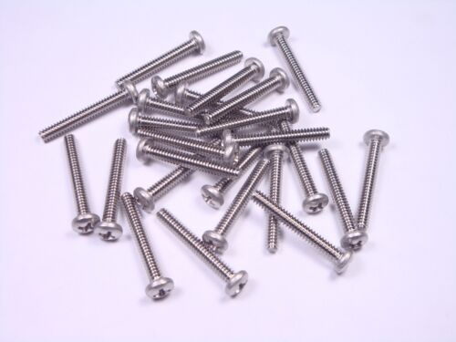"""Lot of 25 MS51957-34 MIL 6-32 x 1/"""" Pan Head Phillips Machine Screw SS UNC-2A NOS"""
