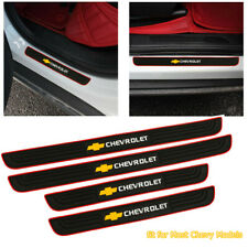 X4 Red Border Rubber Door Scuff Sill Cover Panel Step Protector For Chevrolet Fits 2012 Chevrolet Cruze Lt