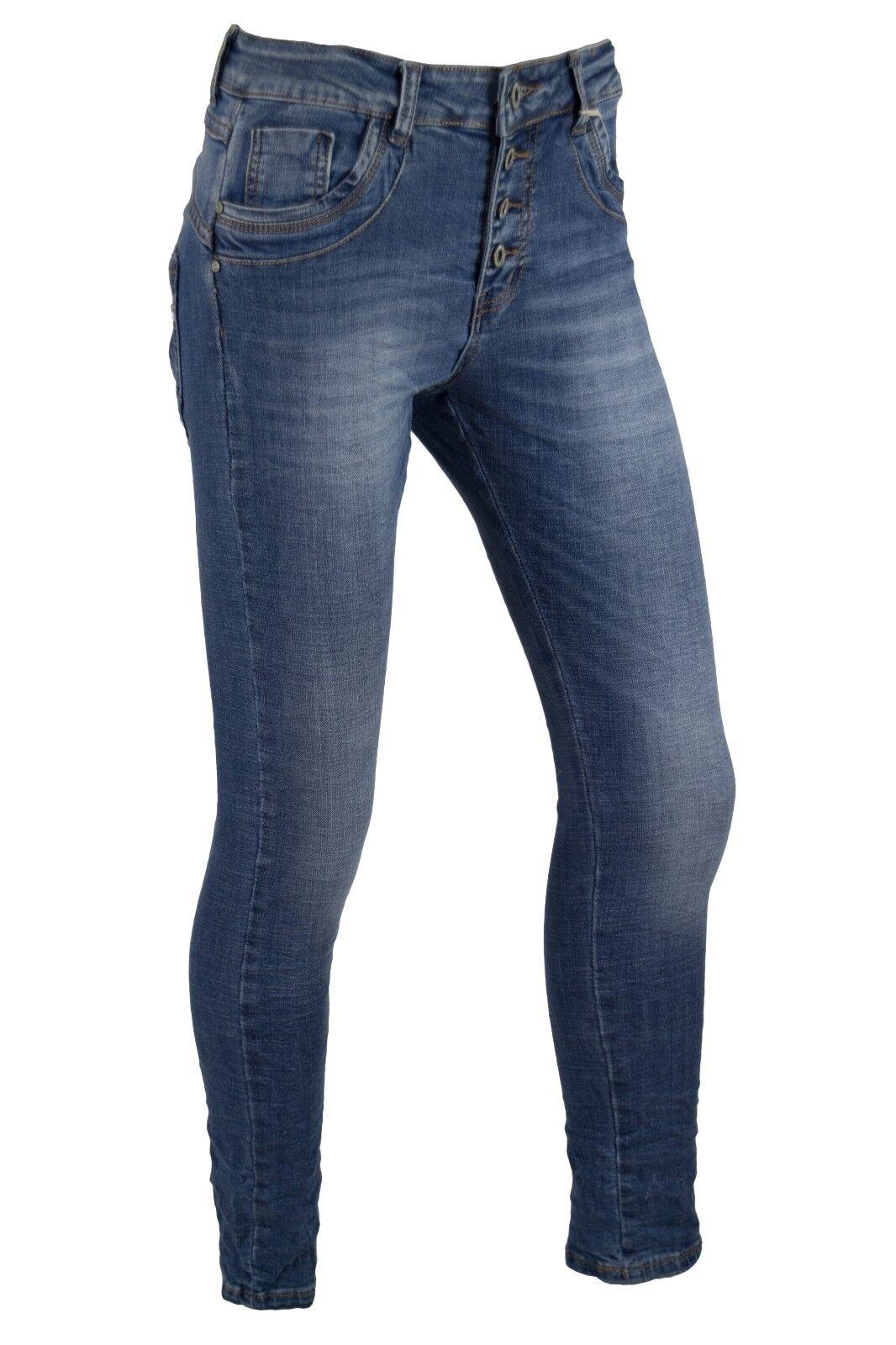 Lexxury Damen Damen Damen Baggy Boyfriend Hose Jeans Blau Classic Knopfleiste | Vorzügliche Verarbeitung  | Lebhaft  | Zarte  | Angemessener Preis  | Neuankömmling  0e73ff