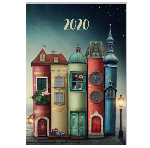 "Buchkalender 2020 DIN A4-1 Tag=1 Seite /""Magic City/"" Design Terminkalender"