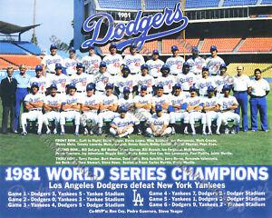 1981 LOS ANGELES LA DODGERS WORLD SERIES CHAMPIONS 8X10 TEAM PHOTO
