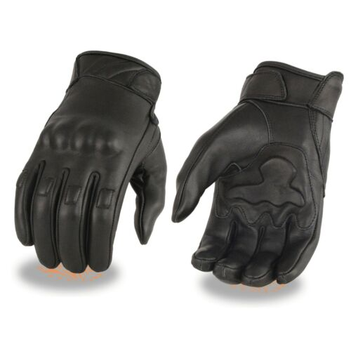 Milwaukee Leather Men's Leather Gloves w// Rubberized Knuckles /& Gel Palm*MG7501