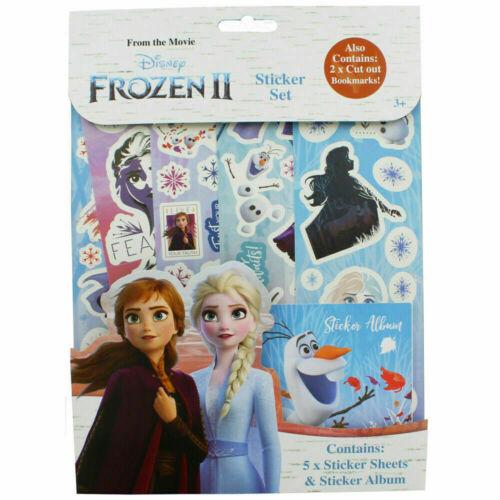 Disney Frozen 2 autocollant Set Crafts for Kids 2 X Cut out signets cadeau de Noël UK