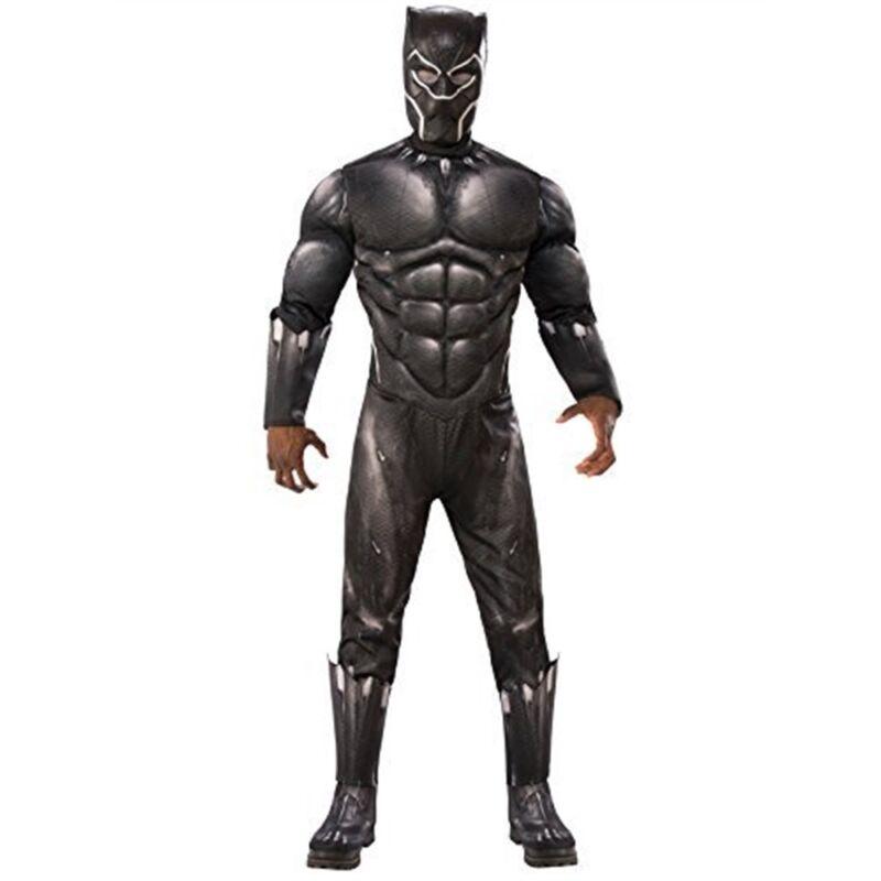 Rubie's Para Hombres Disfraz De Lujo Black Panther Con Parte Delantera: Extra Grande