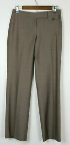 ANN-TAYLOR-LOFT-Women-039-s-Pants-Straight-Leg-Flat-Front-Beige-Size-0