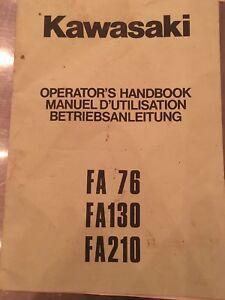 KAWASAKI-FA-76-130-210-ENGINES-OPERATOR-039-S-HANDBOOK-OWNERS-MANUAL-ORIGINAL-German