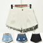 UK-Vintage-Ripped-Womens-High-Waist-Stonewash-Denim-Shorts-Jeans-Hot-Pants-6-22 thumbnail 6