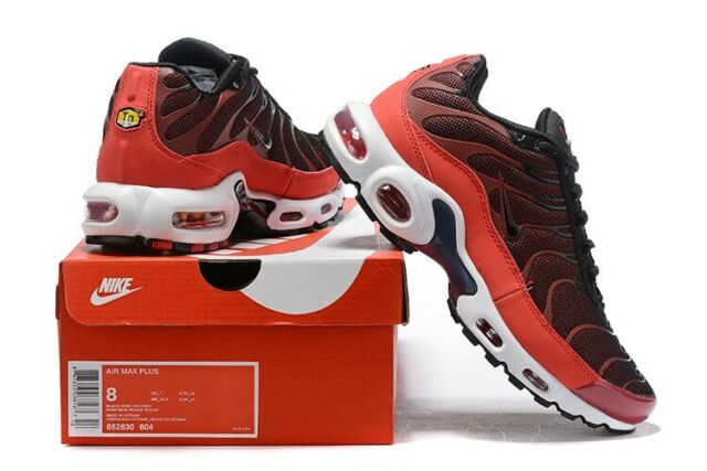 Men's Nike Air Max Plus TN Red Black Running Shoes Size 7,8,8.5,9.5,10,11,12